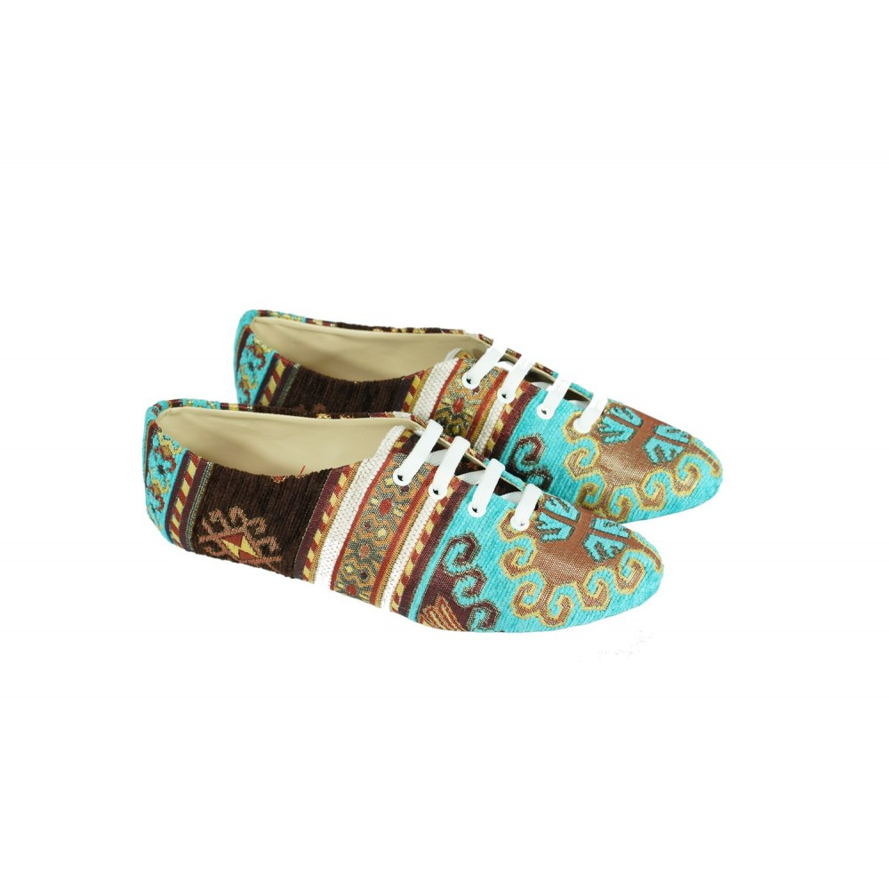 Textile Lace Up Shoes  - Textile Shoes